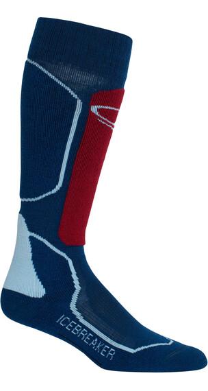 Icebreaker Ski+ Medium OTC Sokken Dames rood/blauw